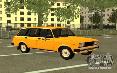 VAZ 2104 de Táxi para GTA San Andreas traseira esquerda vista
