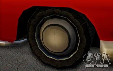 Dundreary Hermes para GTA San Andreas traseira esquerda vista