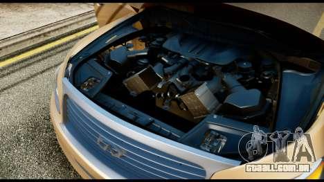 Infiniti QX56 Final para GTA San Andreas vista traseira