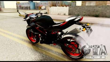 Kawasaki Z250SL Red para GTA San Andreas traseira esquerda vista