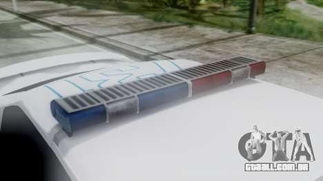 Hunter Citizen v3 IVF para GTA San Andreas vista traseira