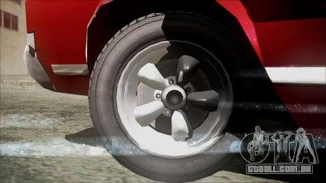 Sabre Turbocharged para GTA San Andreas traseira esquerda vista