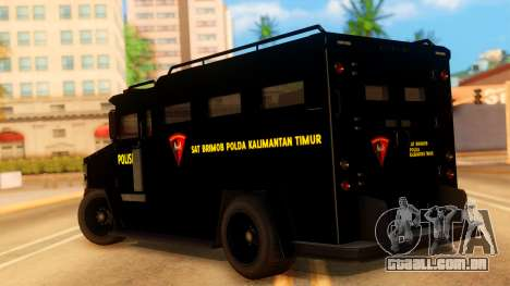 Sat Brimob Skin Enforcer from GTA 5 para GTA San Andreas esquerda vista