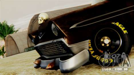 Chevrolet Bel Air 1956 Rat Rod Street para GTA San Andreas vista traseira