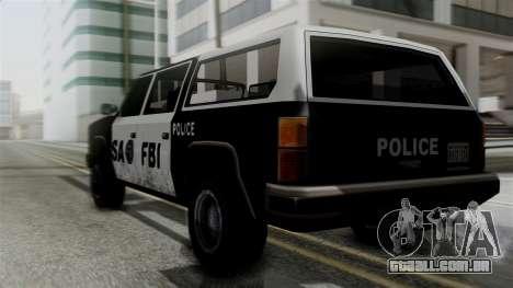 Alternative FBI Rancher para GTA San Andreas esquerda vista