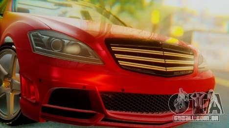 Mercedes-Benz S65 para GTA San Andreas vista traseira