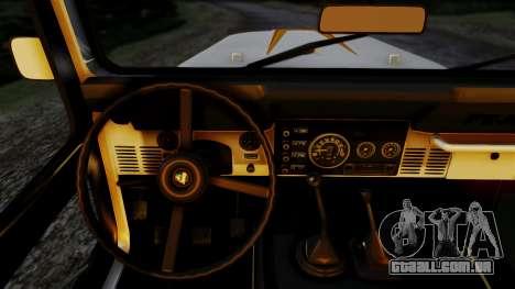 Jeep CJ-7 Renegade 1982 para GTA San Andreas traseira esquerda vista