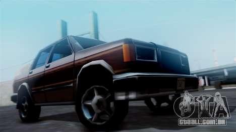 Landstalker Pickup para GTA San Andreas traseira esquerda vista