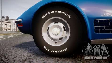 Chevrolet Corvette ZR1 1970 [EPM] para GTA 4 vista de volta