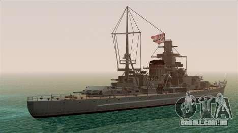 Scharnhorst Battleship para GTA San Andreas esquerda vista