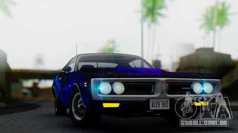 Dodge Charger Super Bee 426 Hemi (WS23) 1971 para vista lateral GTA San Andreas