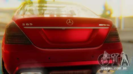 Mercedes-Benz S65 para GTA San Andreas vista interior