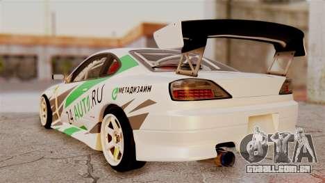 Nissan Silvia S15 24AUTORU para GTA San Andreas esquerda vista
