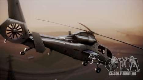 Harbin WZ-19 para GTA San Andreas traseira esquerda vista