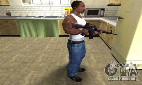 Brown Jungles M4 para GTA San Andreas terceira tela