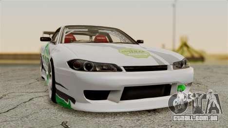 Nissan Silvia S15 24AUTORU para GTA San Andreas vista traseira