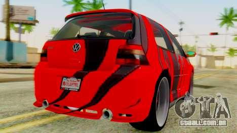 Volkswagen Golf R32 Edition Tribal para GTA San Andreas esquerda vista