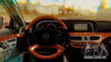 Mercedes-Benz S65 para GTA San Andreas vista direita