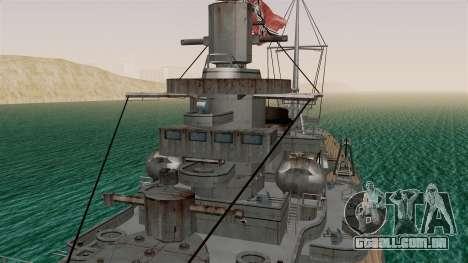 Scharnhorst Battleship para GTA San Andreas vista direita