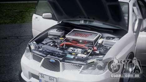 Subaru Impreza para GTA San Andreas vista interior