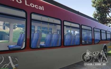 GTA 5 New Bus Textures v2 traseira vista lateral esquerda