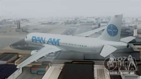 Airbus A320-200 Pan American World Airlines para GTA San Andreas esquerda vista