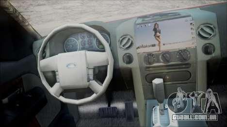 Ford F-150 2005 Single Cab para GTA San Andreas traseira esquerda vista