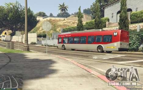 GTA 5 New Bus Textures v2 traseira direita vista lateral