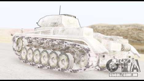 Panzerkampwagen II Snow para GTA San Andreas esquerda vista