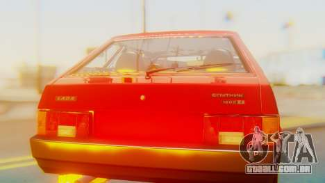 2109 Stoke para GTA San Andreas vista interior