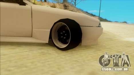 Elegy by PROFF para GTA San Andreas traseira esquerda vista