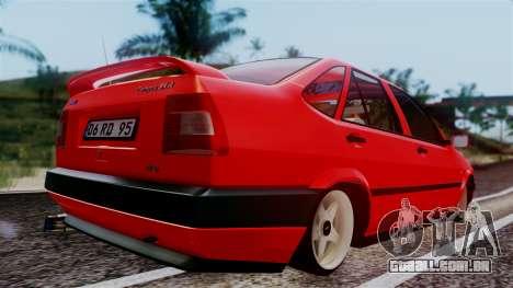 Fiat Tempra para GTA San Andreas traseira esquerda vista