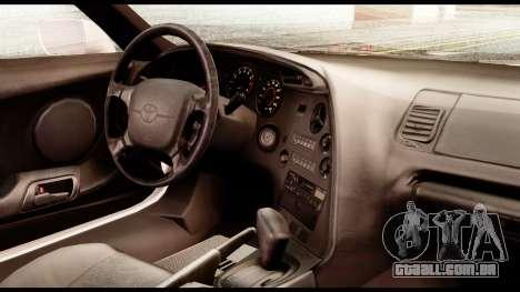 Toyota Supra Full Tuning v2 para GTA San Andreas vista direita