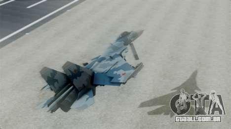 Sukhoi SU-33 Flanker-D para GTA San Andreas traseira esquerda vista