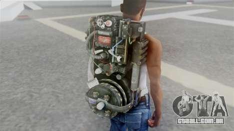 Ghostbuster Rucksack para GTA San Andreas terceira tela
