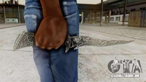 Ebony Dagger para GTA San Andreas terceira tela