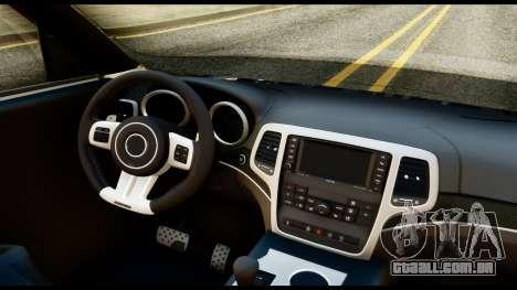 Infiniti QX56 Final para GTA San Andreas vista direita