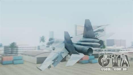 Sukhoi SU-33 Flanker-D para GTA San Andreas esquerda vista