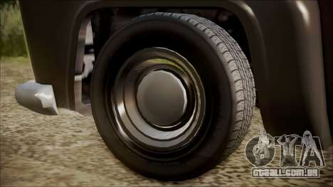 GTA 5 Vapid Slamvan Pickup IVF para GTA San Andreas traseira esquerda vista