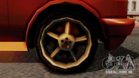 Club New Edition para GTA San Andreas traseira esquerda vista