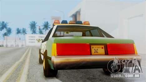 SAPD Cruiser para GTA San Andreas esquerda vista