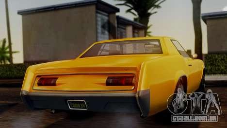 GTA 5 Albany Virgo IVF para GTA San Andreas traseira esquerda vista