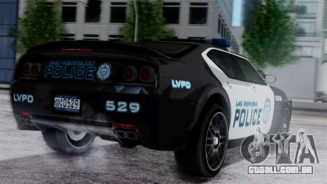 Hunter Citizen Police LV IVF para GTA San Andreas esquerda vista