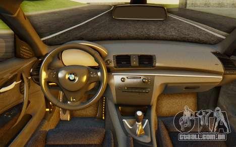 BMW 1M E82 para GTA San Andreas vista traseira