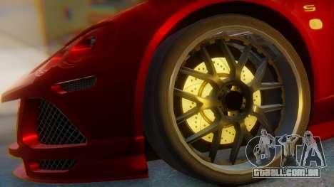 Lotus Europe S Wide para GTA San Andreas traseira esquerda vista