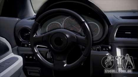 Subaru Impreza para GTA San Andreas vista traseira