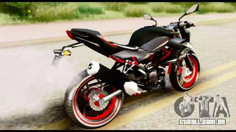 Kawasaki Z250SL Red para GTA San Andreas esquerda vista