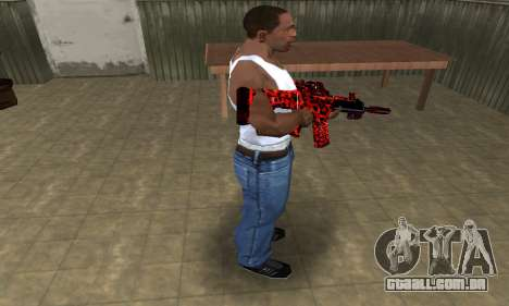 Red Leopard M4 para GTA San Andreas terceira tela