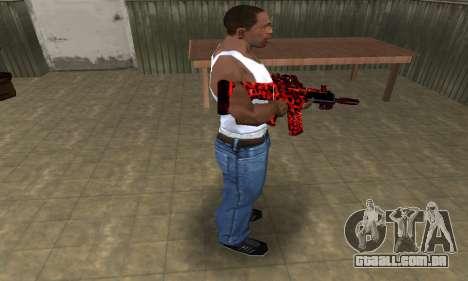 Red Leopard M4 para GTA San Andreas terceira tela