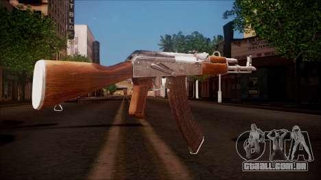 AK-47 v8 from Battlefield Hardline para GTA San Andreas segunda tela